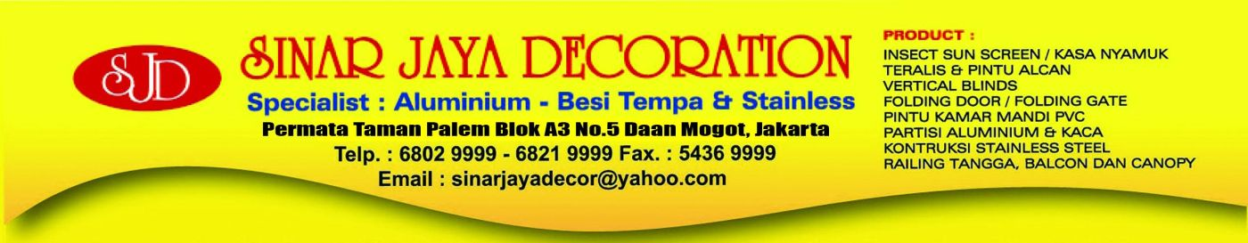 Sinar Jaya Decoration
